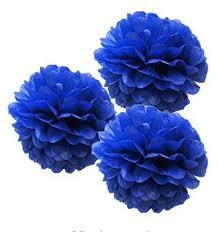 royal blue tissue paper 10pcs royal blue tissue paper pom poms flowers wedding favors