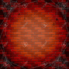 halloween background images halloween background with spiders and spiderweb on a brick wall