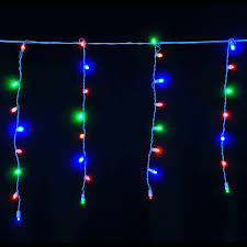 mc 8 ft 5c white wire 120 led chasing christmas icicle lights