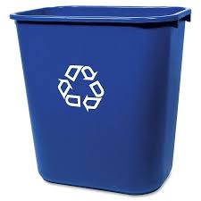 rubbermaid deskside recycling container walmart com