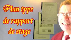 rapport de stage 3eme cuisine rapport de stage exemple 1 plan type modèle du rapport de stage