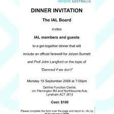 formal luncheon invitation wording sle invitation wording for dinner party beautiful invitation