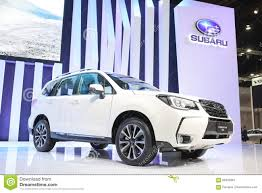 subaru forester 2016 white bangkok march 31 subaru forester 2 0 xt on white car at the