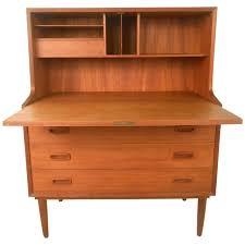 mid century modern børge mogensen style danish teak drop front desk for