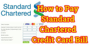how to pay standard chartered credit card bill online through