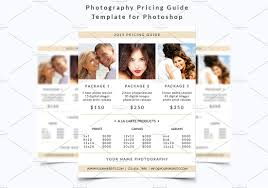 photography flyer pricing guide flyer templates on creative market