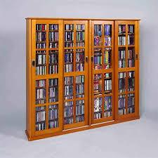 dvd cabinets with glass doors leslie dame 4 door glass cd dvd wall rack media storage dark