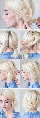 Hochsteckfrisurenen Mit Kurzen Haaren Zum Nachmachen by Die Besten 25 Schulterlanges Haar Ideen Auf Medium