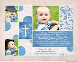 chic baptism or christening invitation baby u0027s photos cross
