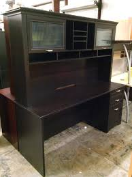 magellan performance collection l desk espresso executive desk magellan performance collection with hutch