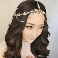 chain headband indian wedding headband forehead hair chain jewelry vintage