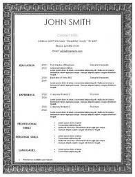 Free Printable Resume Template The 25 Best Free Printable Resume Ideas On Pinterest Resume