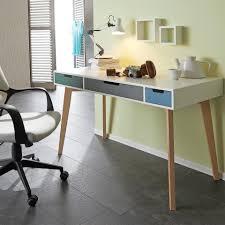 Schreibtischplatte Mit Schubladen Pfiffiger Schreibtisch Weiß Im Trendigen Skandi Stil Mit 3