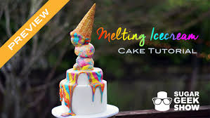 melting ice cream cake tutorial preview youtube