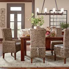 dining room attractive brown wooden seagrass counter stool dining