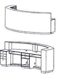 Reception Desk Curved Takara Belmont Koken Arcoa Curved Reception Desk