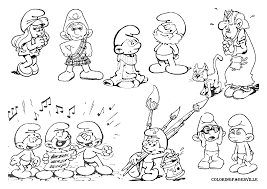 smurfs coloring pages papa smurf smurfette azrael brainy free