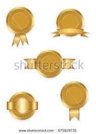 gold ribbons set vector labels gold ribbons stock vector 675829735