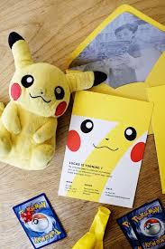 lucas u0027s pokemon birthday party invitations