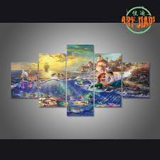 aliexpress buy 5 pieces set canvas hd kinkade the