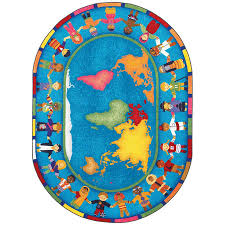 Rug 4 X 7 Hands Around The World 5 Ft 4 In X 7 Ft 8 In Kids Rug