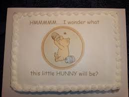 winnie the pooh baby shower cakes cake for baby shower baby