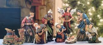 amazon com 9 piece the promise of christmas large deluxe nativity