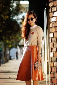 hallie swanson asos a line skirt fox printed sweater christian