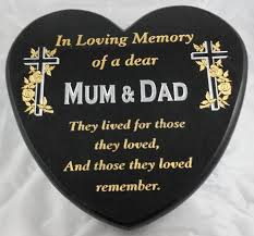 small personalised plaque 9103 grave memorial products