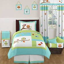 Mint Green Comforter Bedroom White Crib With Coral And Turquoise Bedding Plus Wooden