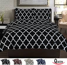 King Size Cotton Duvet Cover Black And White Duvet Covers Smoon Co