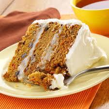 carrot layer cake recipe taste of home