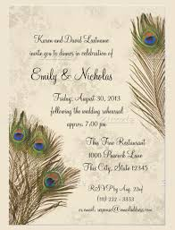 peacock wedding invitations 25 peacock wedding invitation templates free sle exle