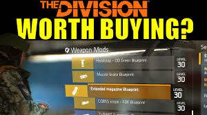 buy blueprints the division high end gold attachments worth buying weapon