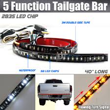 Auto Led Strip Lights by Sequential Flowing Signal Light Led Strip Tailgate Bar Brake