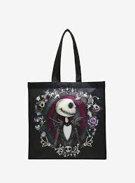 the nightmare before sketch reusable tote topic