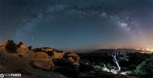 meteor shower over the catalina mountains tucson