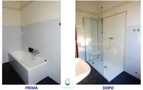 trasformare una doccia in vasca da bagno sostituzione vasca con doccia