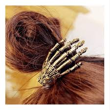 claw hair skeleton claw hair ties ponytail hair band ushoptwo