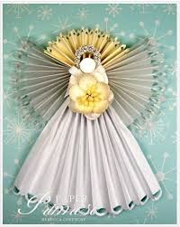 Christmas Decorations Paper Angels by 58 Best Paper Angels Images On Pinterest Christmas Ideas Angel