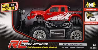 truck ford new bright 1 24 scale radio control truck ford raptor toys
