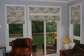 Blackout Cordless Roman Shades Roman Shade With Floral For Patio French Door Decofurnish