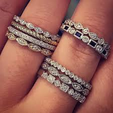 stackable diamond rings best 25 diamond stacking rings ideas on stackable