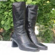 martino of canada s boots size 7 black leather winter boots boots mid heel leather