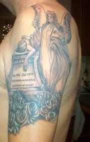 45 memorial angel tattoos ideas