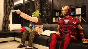 iron man and shrek part 2 ckids halloween yh youtube