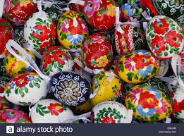 beautiful hand painted hungarian easter eggs stock photo royalty