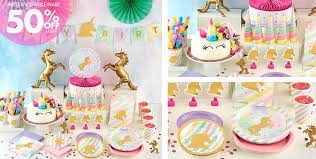 party supplies sparkling unicorn party supplies unicorn birthday party party city