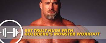 bill goldberg muscular development workout get truly huge with goldberg s monster workout generation iron