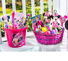 filled easter baskets minnie mouse overstuffed filled easter basket toys